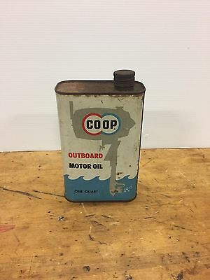 1960's Coop Outboard motor oil quart can