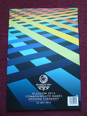 Glasgow 2014 Commonwealth Games Opening Ceremony Official Programme New