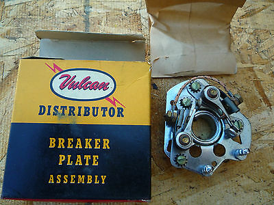 NOS Dual Point Breaker Plate W/Points +Cond Ford 226 6 1949 1950 1951 1952 1953