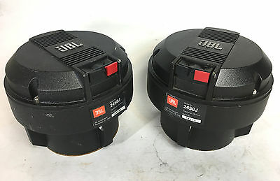 JBL 2450J 16 Ohm Neodymium Horn Drivers PAIR - No Diaphrams Included - 24792