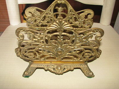 Old/vintage Victorian Brass Metal Napkin/book Holder