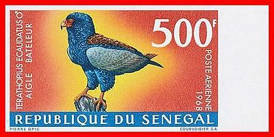 SENEGAL 1968 TROPICAL BIRDS (500Fr) imperforated SC#C57 MNH CV$85.00 EAGLE