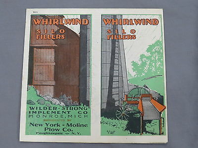 Vintage WHIRLWIND Silo Fillers sales Brochure Moline Plow New York color!