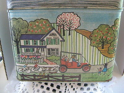 Country Side Square Tin ~ **Gift Idea