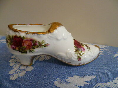 Vintage Royal Albert Made In England Old Country Roses Shoe