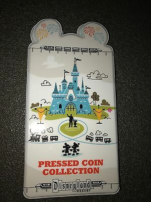 Disneyland Elongated/Pressed Penny Coin Collection Book with Disney Attractions