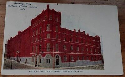 Greeting From Anheuser-Busch Brewing Ass'n Automatic Malt House 9000 Bushels/day