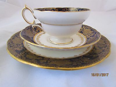 Vintage English Stoke-onTrent Hammersley bone china trio cup saucer side plate