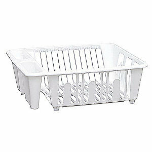 GRAINGER APPROVED Dish Rack,White,Polypropylene, SK0113, White
