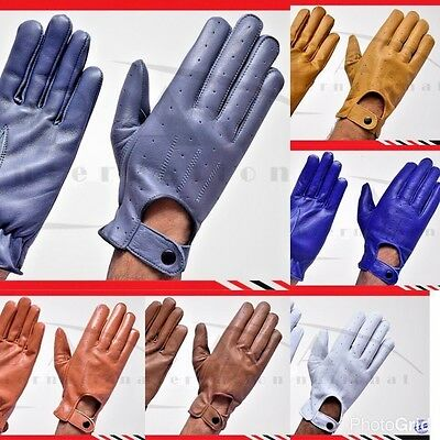 New Real Leather Soft Mens Top Quality Fashion Driving Gloves Black/brown/tan