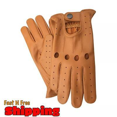 Top Quality Lambskin Sheepskin Real Soft Leather Men Fashion Driving Gloves