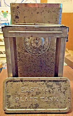 Eastman Kodak Antique Plate Developing Tank with 5x7 Plate Basket / 1900's