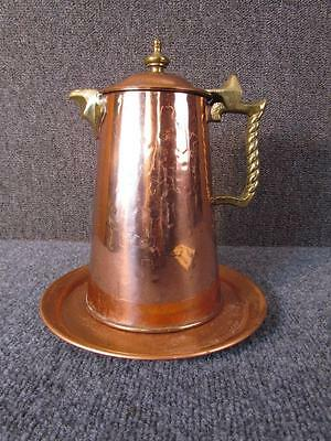 Vintage Colonial Virginia Arts & Cafts Copper Teapot, Quality Hand Made,