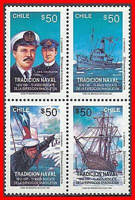 Chile 1991 POLAR EXPEDITION SC#960 MNH SHIPS, FLAGS