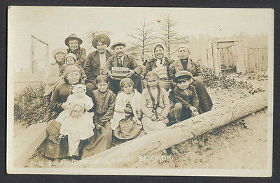 EARLY 1900's QUINAULT NATIVE AMERICAN INDIAN PHOTO ~ MOCLIPS BEACH WA ~ BASKET