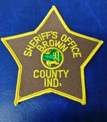 Rare Brown County, Indiana Sheriff's Office Police Shoulder Patch In