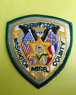 Washington County, Mississippi Sheriff Small (Police) Shoulder Patch Ms