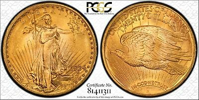 1924 $20 PCGS MS65 - Saint Gaudens Double Eagle - Gold Coin