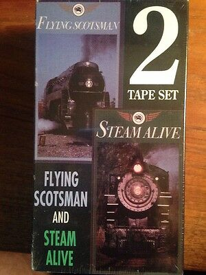 Flying Scotsman and Steam Alive 1990 VHS 2 Videos Unopened