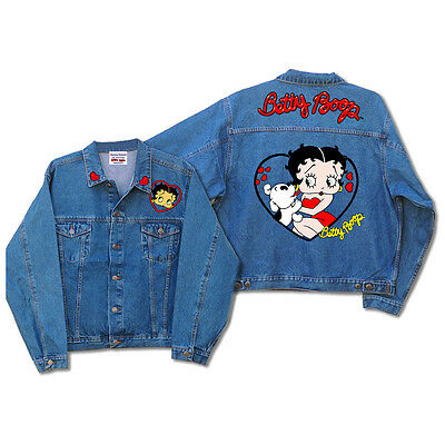 Licensed Betty Boop and Pudgy Denim Jacket Medium DJ-9023 Brand New