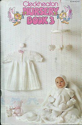 Vintage Knitting Book - Cleckheaton Nursery Book 3 - Baby Patterns - 1980s