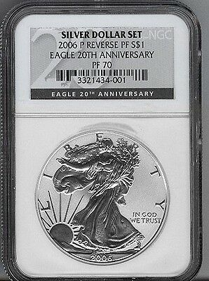 2006-P  REVERSE PROOF SILVER EAGLE - NGC PF70 - buy it now