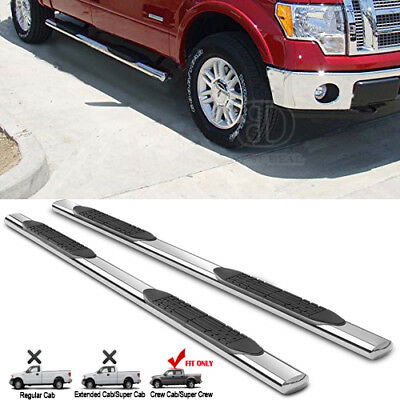 """4"""" Running Boards For 2009-2017 DODGE RAM 1500 Crew Cab S/S Nerf Bar Side Step"""
