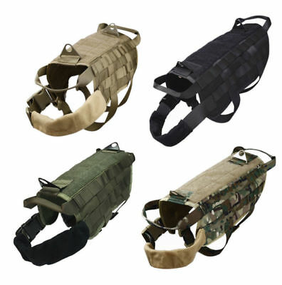 Military MOLLE Dog Harness Police K9 Tactical German Shepherd Vest XS S M L XL