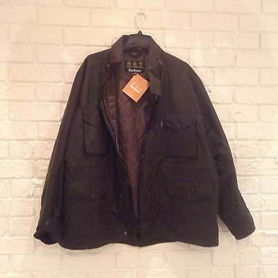 Men's Barbour waxed cotton quilted Sapper jacket