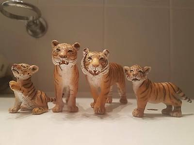 Schleich 2008 Tiger Family (All 4 Models)