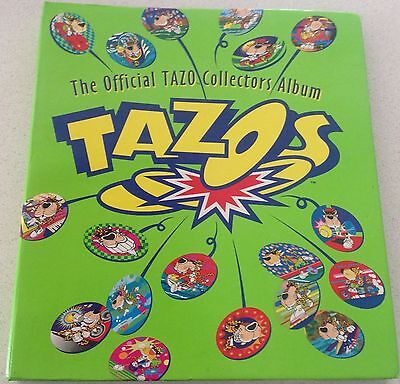 Collectible Tazos Album Of Looney Tunes; Chester Cheetah & The Simpsons VGC