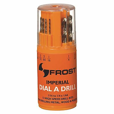 """– REPLACES FROST 92250 1//16"""" – 1//4"""" P/&N BY SUTTON 13pce HSS IMPERIAL DRILL SET"""