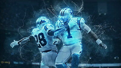 "024 Cam Newton - Carolina Panthers NFL Player 24""x14"" Poster"