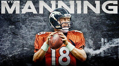 """004 Peyton Manning - Indianapolis Colts NFL Player 24""""x14"""" Poster"""