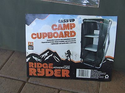 """""""EASY UP"""" CAMP CUPBOARD,  3 shelf, never used."""