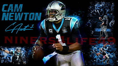 "059 Cam Newton - Carolina Panthers NFL Player 42""x24"" Poster"