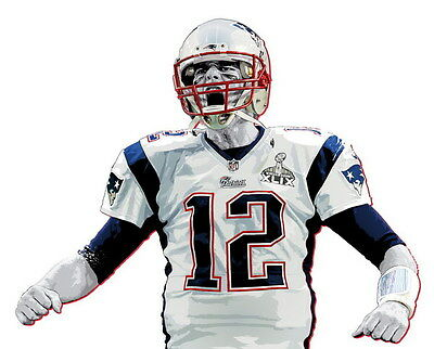"023 Tom Brady - New England Patriots Super Bowl MVP NFL Player 29""x24"" Poster"