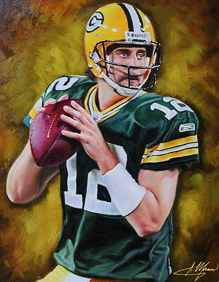 "030 Aaron Rodgers - Green Bay Packers NFL Player 24""x30"" Poster"