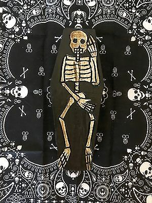 Beautiful Gothic Skull/Skeleton Coffin Trinket Jewellery Box-Day Of The Dead