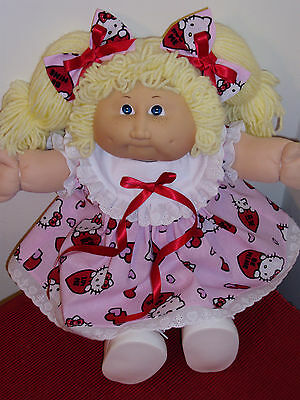 """Clothes for Cabbage Patch Kids HELLO KITTY VALENTINE SET for 16 to 18"""" dolls"""