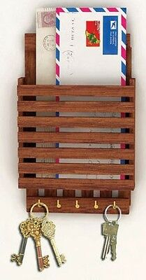Craftgasmic Wooden Key Holder five Keys Holder and Letter Rack