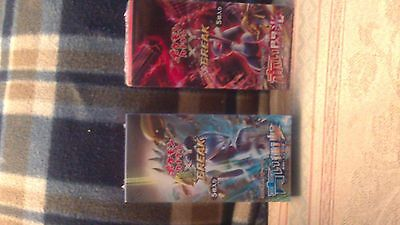 Pokemon TCG - 2x Japanese Booster boxes Blue Shock & Red (Breakpoint) New Sealed