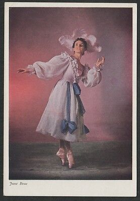 """k1939) WADE GALLERY POSTCARD BALLET DANCE JUNE BRAE FROM """"ASSEMBLY BALL"""""""