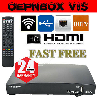 Openbox V8S Satellite Receiver Freesat PVR Full HD Channel Box 24 Month Warranty