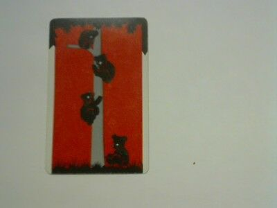 1 Single Swap/Playing Card - Animals Bears in a Tree