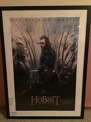 The Hobbit Poster Signed By Eight