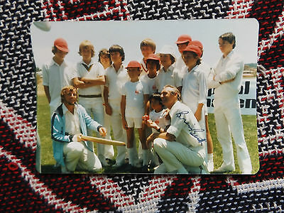"HAND SIGNED 5"" x 3"" PHOTO - BRIAN BOOTH - CRICKET - AUSTRALIA"