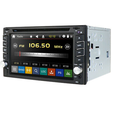 GPS Navigation HD Double 2DIN In Dash Car Stereo DVD Player Bluetooth Radio IPod