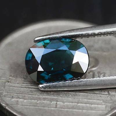 1.38ct Unheated Natural Oval Greenish Blue Spinel Myanmar #JP