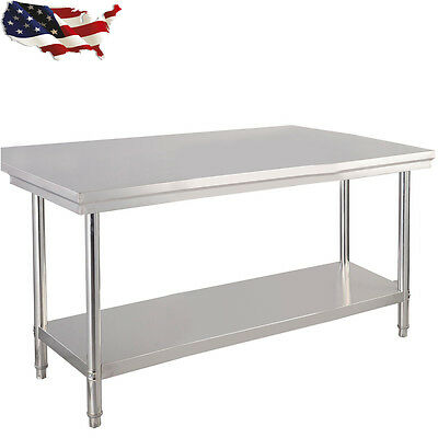 """30""""x 48"""" Stainless Steel Commercial Kitchen Work Food Prep Table Coffee Studio"""